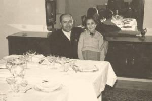 Al battesimo del nipote Piergiorgio a Pescara con la figlia Maria Antonietta