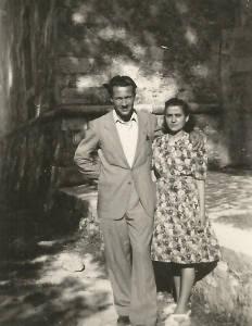 Nicola e la futura moglie Maria Pia